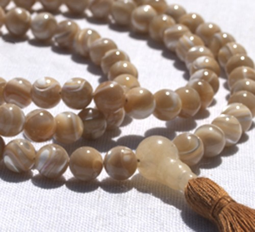 Natural Mother of Pearl Full Mala 3