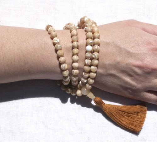 Natural Mother of Pearl Full Mala2